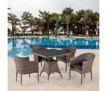 Комплект плетеной мебели T220BG/Y350BG-W1289 Pale 4Pcs (AM)