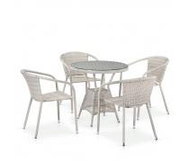 Комплект плетеной мебели T705ANT/Y137C-W85 4Pcs Latte (AM)