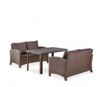 Комплект плетеной мебели T51A/S58A-W773 Brown (AM)