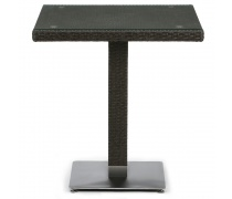 Плетеный стол T605SWT-W53-70x70 Brown (AM)