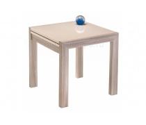 Стеклянный стол Джендри капучино / ясень шимо светлый (LM)