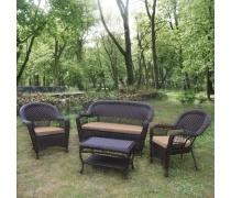 Комплект плетеной мебели LV130 Brown/Beige (AM)