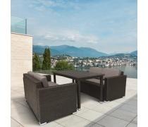 Комплект плетеной мебели T256A/S52A-W53 Brown  (AM)