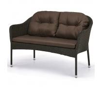 Плетеный диван S54A-W53 Brown (AM)