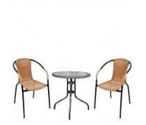 Комплект мебели  Асоль-1LB TLH-037С-TLH060RR-D60 Light Beige (2+1) (AM)