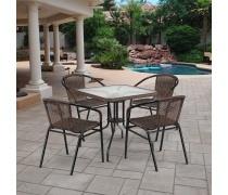 Комплект мебели Асоль-3 TLH-037BR2/070SR-70х70 R-05 Brown (4+1) (AM)