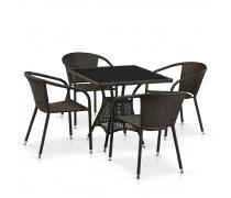 Комплект плетеной мебели T197BNS-W53/Y137C-W53 Brown 4Pcs (AM)