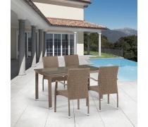 Комплект плетеной мебели T256B/Y379B-W56 Light brown 4Pcs (AM)