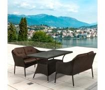 Комплект плетеной мебели T198A/S54A-W53 Brown (AM)