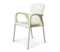 Стул пластиковый XRF-065-BW White (AM)