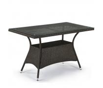 Плетеный стол T198D-W53-130x70 Brown (AM)