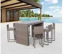 Барный комплект плетеной мебели T390GD/Y390G-W78_6Pcs Grey (AM)