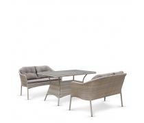 Комплект плетеной мебели с диванами T198C/S54C-W85 Latte (AM)