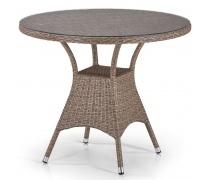 Плетеный стол T197AT-W56-D90 Light Brown (AM)