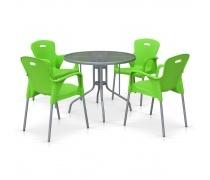 Комплект мебели для кафе TD90/XRF065BG-Green (4+1) (AM)