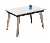 Стеклянный стол Джофри белый / венге светлый (LM)