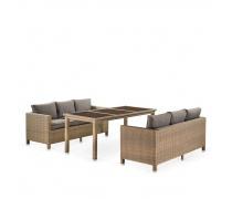 Комплект плетеной мебели T365/S65B-W65 Light Brown (AM)