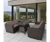 Комплект плетеной мебели T198A/S52A-W53 Brown (AM)
