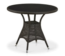 Плетеный стол T197ANS-W53-D90 Brown (AM)