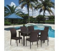 Комплект плетеной мебели T256A/Y380A-W53 Brown 6Pcs (AM)
