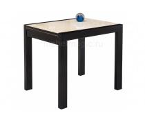 Стеклянный стол Джорах 90 бежевый / венге (LM)