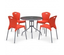 Комплект мебели для кафе TD90/XRF065AO-Orange (4+1) (AM)