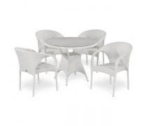 Комплект плетеной мебели T220CW/Y290W-W2 White 4Pcs (AM)