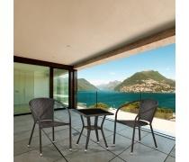 Комплект плетеной мебели T25A/Y137C-W53 Brown 2Pcs (AM)