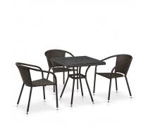 Комплект плетеной мебели T282BNT/Y137C-W53 Brown 3Pcs (AM)