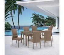 Комплект плетеной мебели T256B/Y379B-W56 Light Brown 6Pcs (AM)