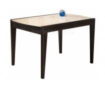Стеклянный стол Оливер бежевый / орех премиум (LM)