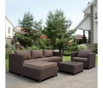 Комплект плетеной мебели YR821A Brown/Beige (AM)