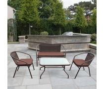 Плетеный комплект мебели  TLH-037/037D/40S Brown (AM)