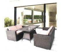 Комплект мебели с диванами SERTOW арт. T198A/AFM-215B-W53 Brown (AM)