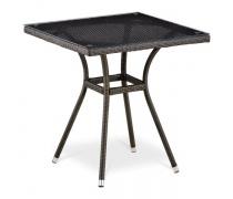 Плетеный стол T282BNT-W53-70x70 Brown (AM)