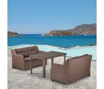 Комплект плетеной мебели T51B/S51B-W60 Light brown (AM)