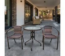 Комплект мебели Асоль-1B TLH-037BR2/060RR-D-60 Brown (2+1) (AM)
