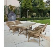 Комплект плетеной мебели T130Bg/Y130Bg-150x90 Beige/Beige 4Pcs (AM)