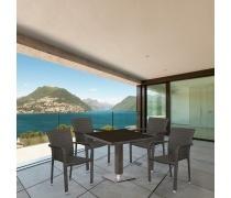 Комплект плетеной мебели T605SWT/A2001B-W53 Brown 4Pcs (AM)