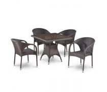 Комплект плетеной мебели T220BBT/Y290B-W52 Brown 4Pcs (AM)