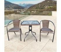 Комплект мебели Асоль-2A TLH-037AR3/060SR-60х60 Cappuccino (2+1) (AM)
