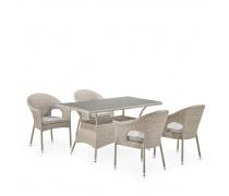 Комплект плетеной мебели T198C/Y79C-W85 Latte (4+1) (AM)