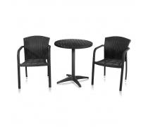 Комлект мебели для кафе Milanо-1 (T-159A / Y-95D BLACK)(AM)