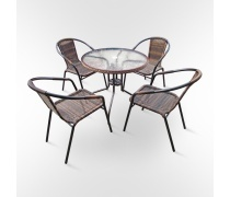Комплект мебели для кафе Nicole-1В (TLH-037B/087B-80)(AM)