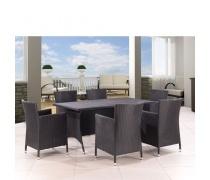 Комплект мебели из иск. ротанга (T-254 /Y-189А BLACK)(AM)