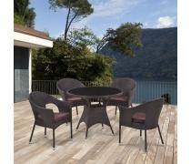 Комплект мебели из иск. ротанга Abcent (brown) (T190B-1Y97B)(AM)