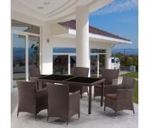 Комплект мебели из иск. ротанга Palermo (brown) (T248B/Y189B)(AM)