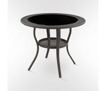 Стол искусственный ротанг Авила - 90см. (Т-147-Dark Brown)(AM)