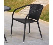 Плетёное кресло из искусственного ротанга (Y-137C)(AM)