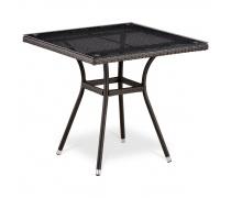Плетёный стол из искусственного ротанга (80x80) (T-283BNТ (W2390))(AM)